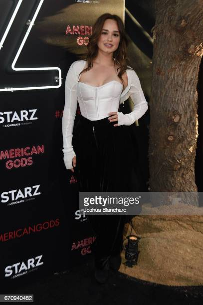 Actor Rose Williams arrives at the Premiere of American Gods on April 20 2017 in Los Angeles California