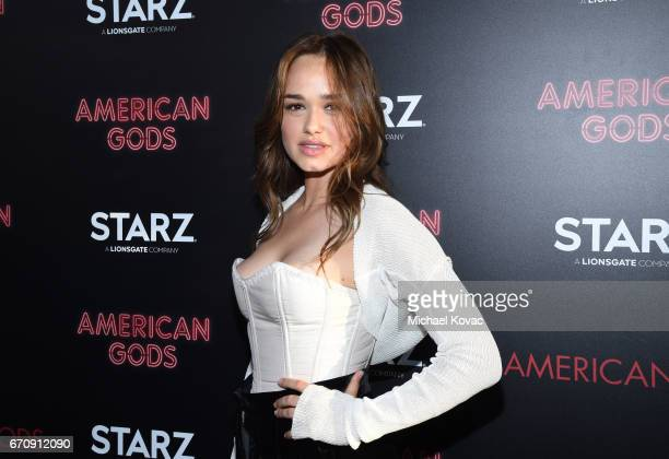 Actor Rose Williams attends the American Gods premiere at ArcLight Hollywood on April 20 2017 in Los Angeles California
