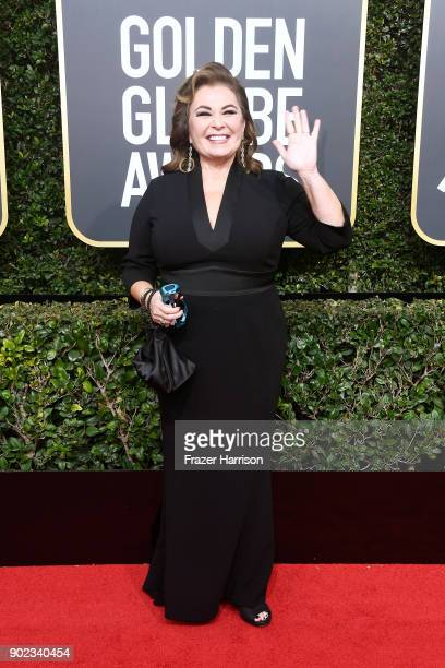 Actor Roseanne Barr attends The 75th Annual Golden Globe Awards at The Beverly Hilton Hotel on January 7 2018 in Beverly Hills California