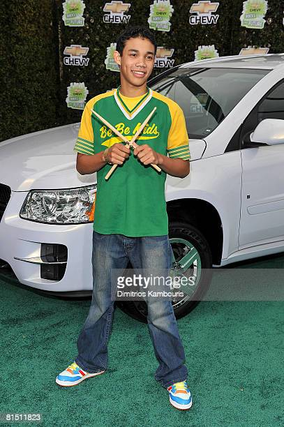 Actor Roshon Fegan arrives at Chevy Rocks The Future at the Buena Vista Lot at The Walt Disney Studios on February 19 2008 in Burbank California