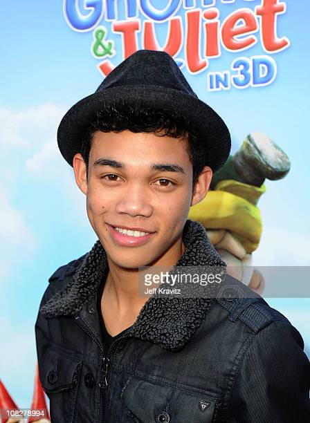 Actor Roshon Fegan arrives at the Los Angeles premiere of 'Gnomeo and Juliet' at the El Capitan Theatre on January 23 2011 in Hollywood California