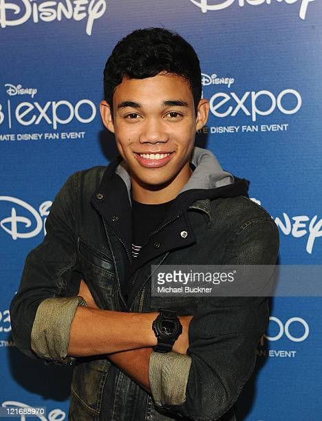 Actor Roshon Fegan arrives for the 'Shake It Up' Panel during Disney's D23 Expo 2011 at the Anaheim Convention Center on August 21 2011 in Anaheim...