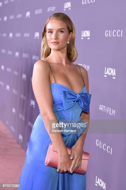 Actor Rosie HuntingtonWhiteley attends the 2017 LACMA Art Film Gala Honoring Mark Bradford and George Lucas presented by Gucci at LACMA on November 4...