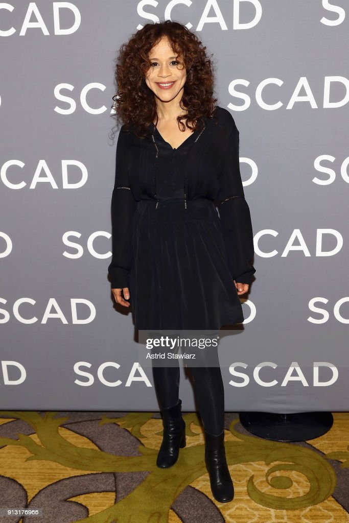 Actor Rosie Perez attends a press junket for 'Rise' on Day 1 of the SCAD aTVfest 2018 on February 1, 2018 in Atlanta, Georgia.