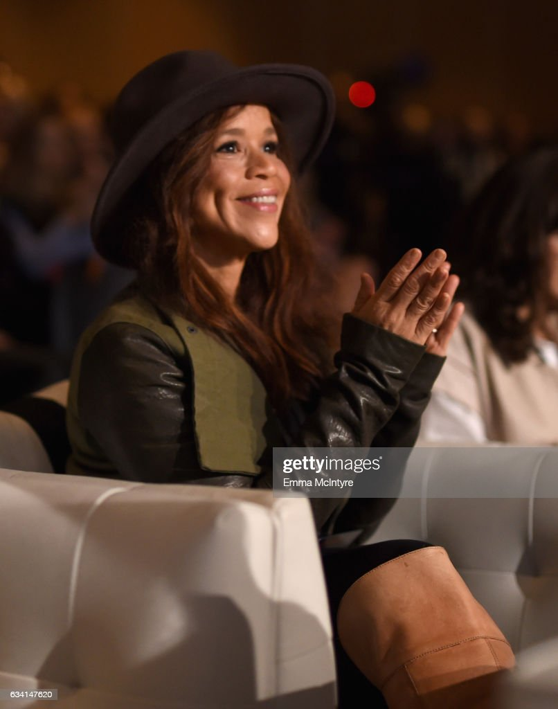 Actor Rosie Perez attends The 2017 MAKERS Conference Day 2 at Terranea Resort on February 7, 2017 in Rancho Palos Verdes, California.
