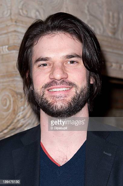 Actor Ross Beshear attends the allstar reading of Hamlet at The Players Club on February 21 2012 in New York City