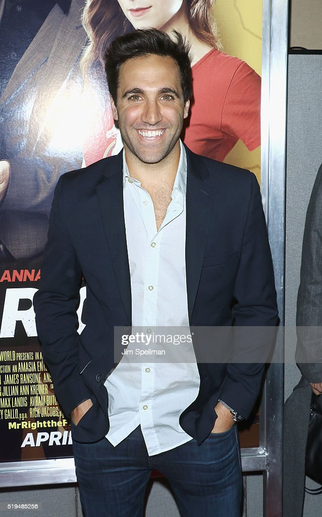 Actor Ross Gallo attends the 'Mr. Right' New York premiere at AMC Lincoln Square Theater on April 6, 2016 in New York City.