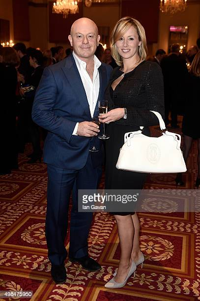 Actor Ross Kemp and Renee O'Brien attend the National Youth Theatre fundraiser at Bloomsbury Hotel on November 23 2015 in London England