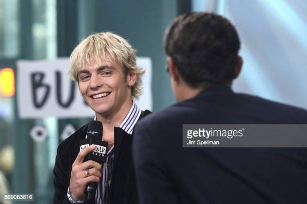 Actor Ross Lynch and moderator Ricky Camilleri attend Build to discuss My Friend Dahmer at Build Studio on November 1 2017 in New York City