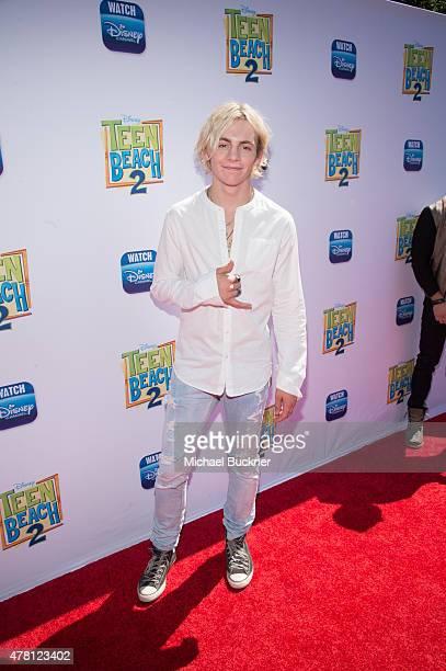 Actor Ross Lynch attends the premiere of Disney Channel's 'Teen Beach 2' at Walt Disney Studios on June 22 2015 in Burbank California