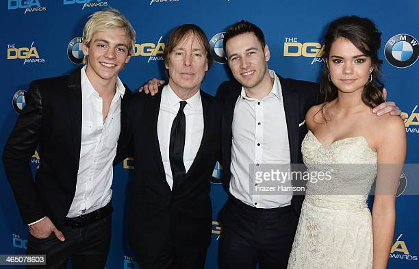 Actor Ross Lynch director Jeffrey Hornaday choreographer/actor Christopher Scott and actress Maia Mitchell attend the 66th Annual Directors Guild Of...