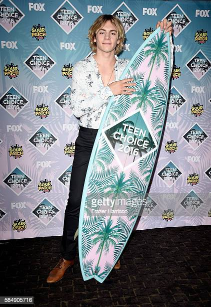 Actor Ross Lynch poses in the press room during Teen Choice Awards 2016 at The Forum on July 31 2016 in Inglewood California