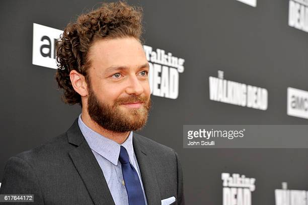Actor Ross Marquand attends AMC presents Talking Dead Live for the premiere of The Walking Dead at Hollywood Forever on October 23 2016 in Hollywood...