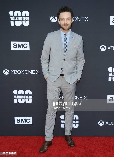 Actor Ross Marquand attends the 100th episode celebration off The Walking Dead at The Greek Theatre on October 22 2017 in Los Angeles California