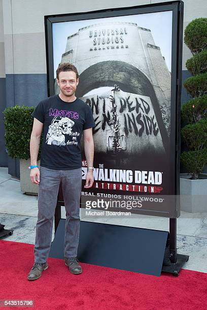 Actor Ross Marquand attends the Press Event For The Walking Dead Attraction Don't Open Dead Inside at Universal Studios Hollywood on June 28 2016 in...