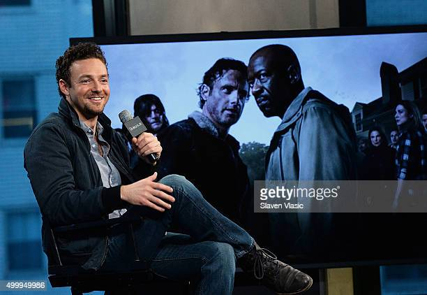 Actor Ross Marquand talks about season six of the hit AMC show The Walking Dead at AOL Studios In New York on December 4 2015 in New York City