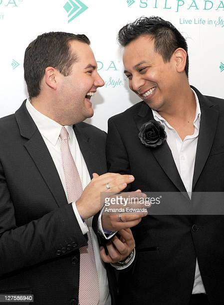 Actor Ross Mathews and blogger Salvador Camarena attend Silpada at Kari Feinstein's Academy Awards Style Lounge at Montage Beverly Hills on February...