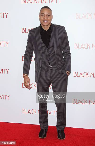 Actor Rotimi attends the Black Nativity premiere at The Apollo Theater on November 18 2013 in New York City