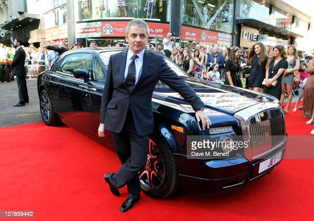Actor Rowan Atkinson arrives at the UK Premiere of 'Johnny English Reborn' at Empire Leicester Square on October 2, 2011 in London, England.