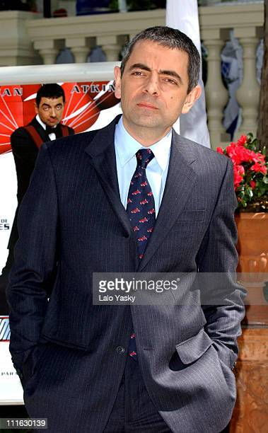 """Actor Rowan Atkinson Attends a Promotional Photocall for his Film """"Johnny English"""""""