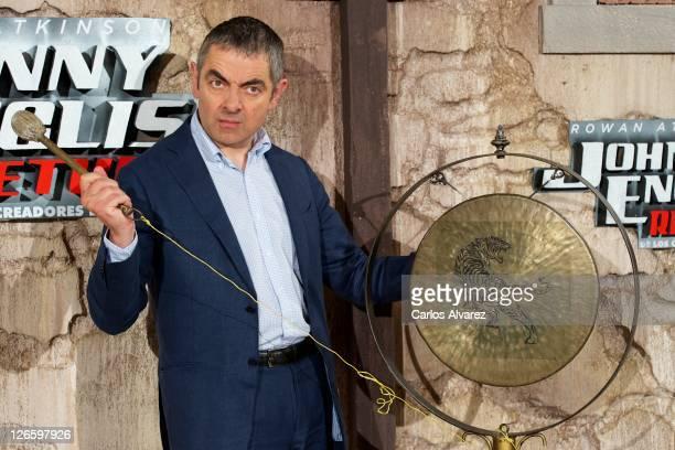 "Actor Rowan Atkinson attends ""Johnny English Returns"" photocall at Villamagna Hotel on September 26, 2011 in Madrid, Spain."
