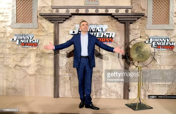 Actor Rowan Atkinson attends 'Johnny English Returns' photocall at Villamagna Hotel on September 26 2011 in Madrid Spain