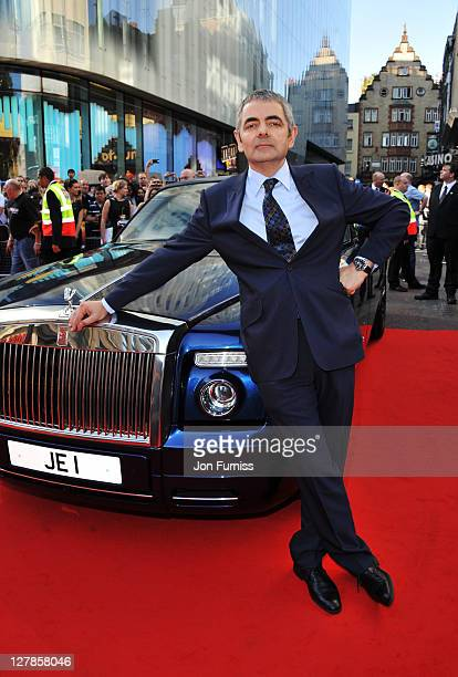 """Actor Rowan Atkinson attends the """"Johnny English Reborn"""" UK premiere at Empire Leicester Square on October 2, 2011 in London, England."""