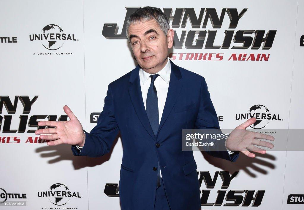 """Johnny English Strikes Again"" New York Screening : News Photo"