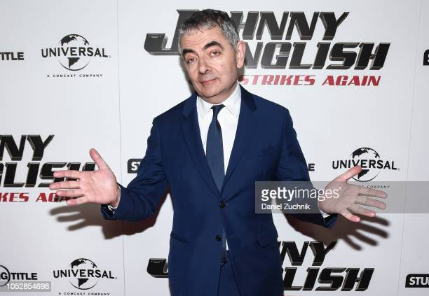 """Actor Rowan Atkinson attends the """"Johnny English Strikes Again"""" New York Screening at AMC Lincoln Square Theater on October 23, 2018 in New York City."""