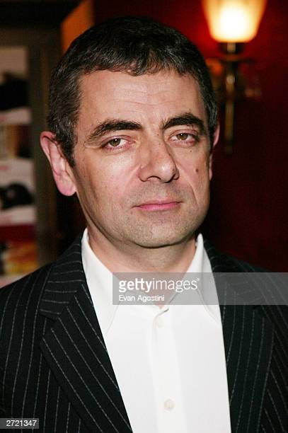 Actor Rowan Atkinson attends the World Premiere of 'Love Actually' at the Ziegfeld Theatre November 06 2003 in New York City