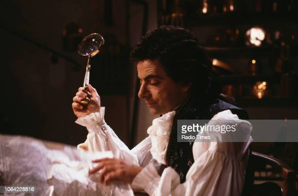 Actor Rowan Atkinson in a scene from episode 'Amy and Amiability' of the BBC television sitcom 'Black Adder the Third' June 26th 1987