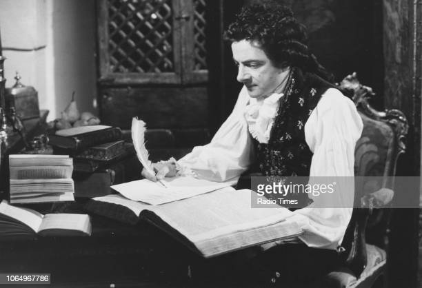 Actor Rowan Atkinson in a scene from episode 'Amy and Amiability' of the television series 'Blackadder the Third' June 1987