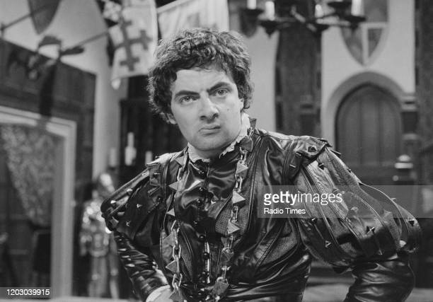Actor Rowan Atkinson in a scene from the unaired pilot of the BBC television series 'Blackadder', June 20th 1982.