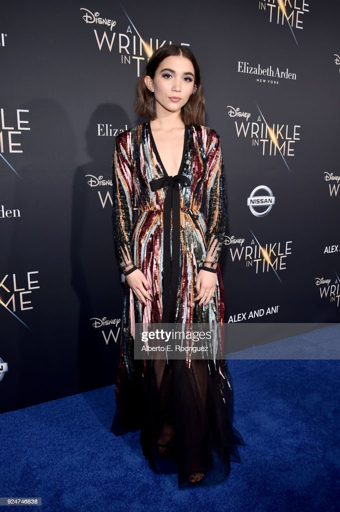 Actor Rowan Blanchard arrives at the world premiere of Disney's 'A Wrinkle in Time' at the El Capitan Theatre in Hollywood CA, Feburary 26, 2018.