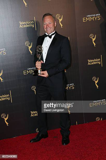 Actor Rowley Irlam attends the 2016 Creative Arts Emmy Awards Press Room Day 1 at the Microsoft Theater on September 10 2016 in Los Angeles California