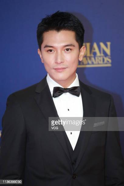 Actor Roy Chiu poses on the red carpet of the 13th Asian Film Awards on March 17 2019 in Hong Kong China