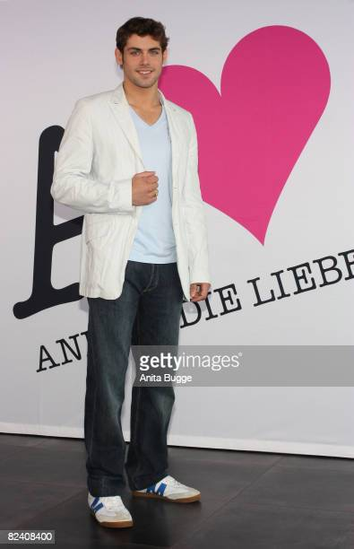 Actor Roy Peter Link attends a photocall to the new German television SAT1 telenovela 'Anna und die Liebe' on August 18 2008 in Berlin Germany