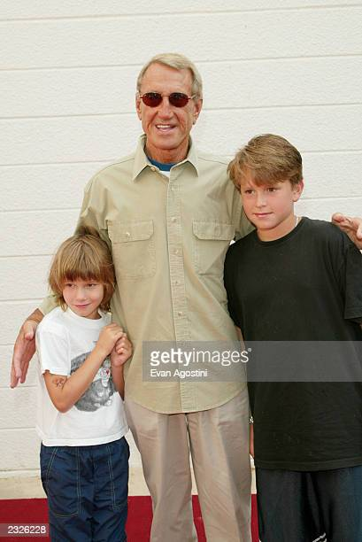 "Actor Roy Scheider with daughter Molly and son Christian arriving at a ""Men In Black II"" screening to benefit Hayground School at the UA East Hampton..."