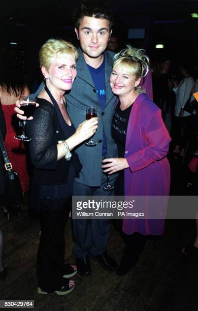 Actor Royce Cronin who plays 'Luke Warrington' with actress Nicola Duffett who plays 'Cat Matthews' at Channel 5's Family Affairs celebrity party...