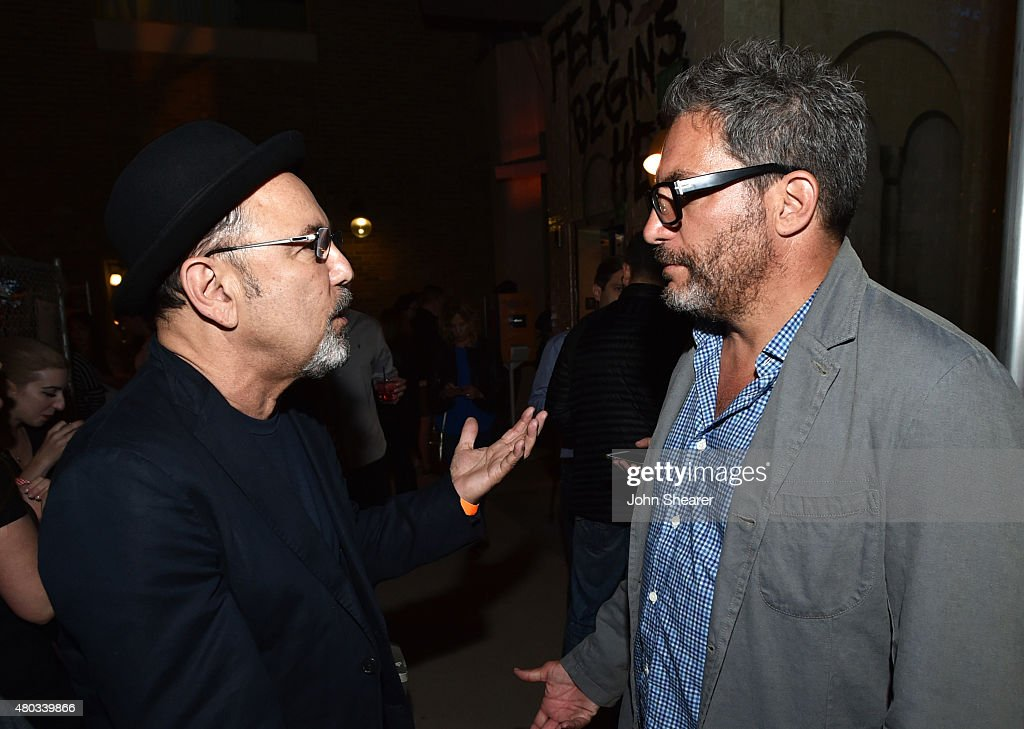 Actor Ruben Blades (L) and director/producer Adam Davidson attend AMC, ET And Tumblr's 'Fear The Walking Dead' Event during Comic-Con International 2015 on July 10, 2015 in San Diego, California.