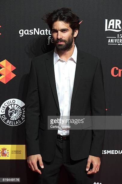 Actor Ruben Cortada attends the Malaga Film Festival 2016 presentation cocktail at the Circulo Bellas Artes on April 6 2016 in Madrid Spain