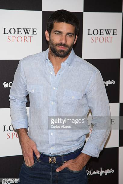 Actor Ruben Cortada presents the new Loewe 'Sport' fragance at the Corte Ingles Castellana store on March 18 2014 in Madrid Spain