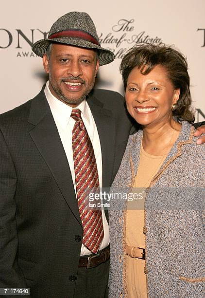 Actor Ruben GonzalezHudson and actress Leslie Uggams attend The Tony Awards Honor Presenters And Nominees at the Waldorf Astoria on June 10 2006 in...