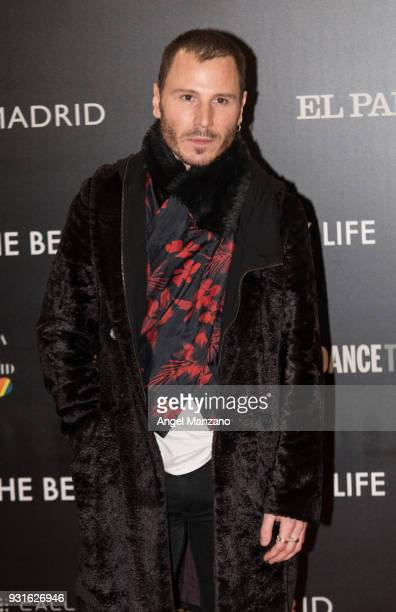 Actor Ruben Ochandiano attends 'The Best Day Of My Life' Madrid premiere at Callao cinema on March 13 2018 in Madrid Spain