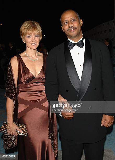 Actor Ruben Santiago Hudson and wife Jeannie arrive at the HBO Emmy after party held atThe Plaza at the Pacific Design Center on September 18 2005 in...