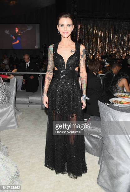 Actor Ruby Rose attends Bulgari at the 25th Annual Elton John AIDS Foundation's Academy Awards Viewing Party at on February 26 2017 in Los Angeles...