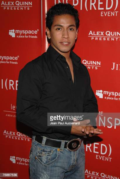 Actor Rudy Youngblood arrives at the Inspi Event held at Mood on July 30th 2007 in Hollywood California