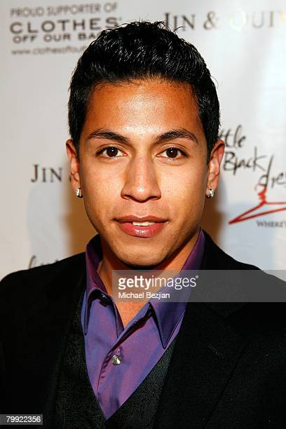 Actor Rudy Youngblood arrives at the Wear Black and Give Back PreOscar Party at Opera on February 21 2008 in Los Angeles CA