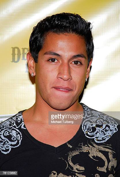 Actor Rudy Youngblood poses on the red carpet during the birthday celebration of band member ApldeAp at The Allen Pineda Lindo Benefit held at the...
