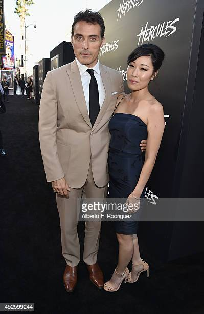 Actor Rufus Sewell and Ami Komai arrive to the premiere of Paramount Pictures' Hercules at the TCL Chinese Theatre on July 23 2014 in Hollywood...
